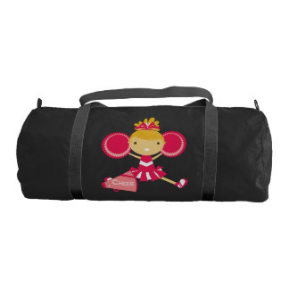 Red Cheerleader Duffle Bag Gym Duffel Bag