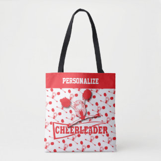 Red Cheerleader Girl - All Over Print Tote Bag