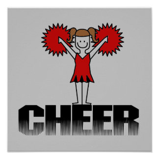 Red Cheerleader Tshirts and Gifts Print