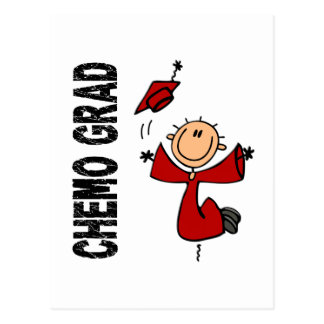 Red CHEMO GRAD 1 (Blood Cancer) Postcard