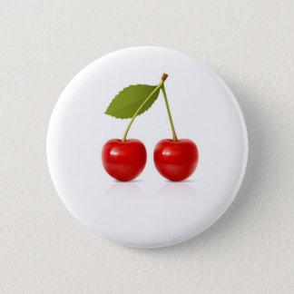 Red Cherries 6 Cm Round Badge