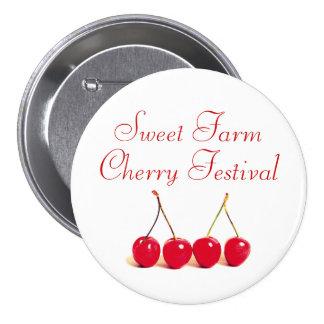 Red Cherries 7.5 Cm Round Badge