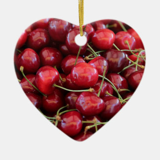 red cherries christmas ornament