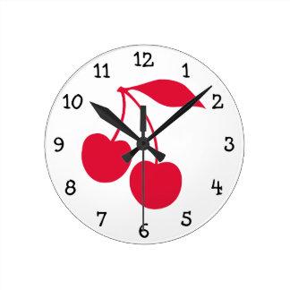 Red Cherries Clock