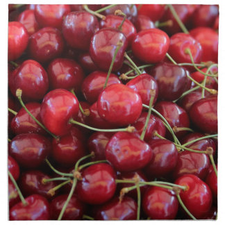 red cherries napkin