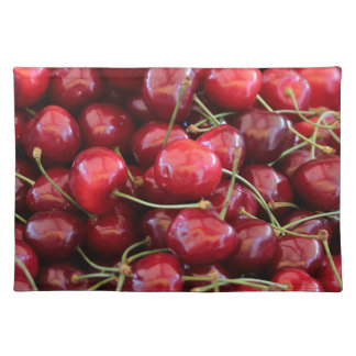 red cherries placemat