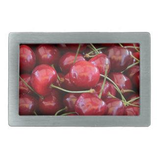 red cherries rectangular belt buckles
