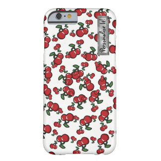 Red Cherries & White (Any Color) Personalized Barely There iPhone 6 Case