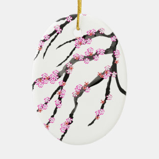 Red Cherry Blossom 32, Tony Fernandes Christmas Ornament