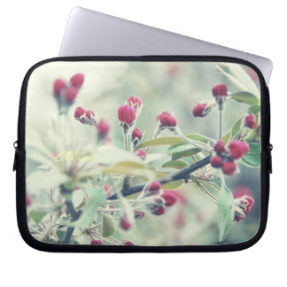 Red Cherry Blossom Laptop Computer Sleeve