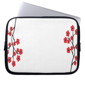 Red Cherry Blossoms Electronics Bag Computer Sleeve