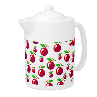 Red Cherry Fruit Pattern