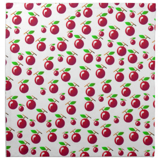 Red Cherry Fruit Pattern Napkin