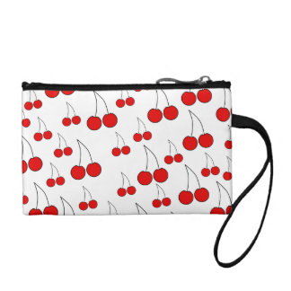 Red Cherry Pattern. Coin Purse