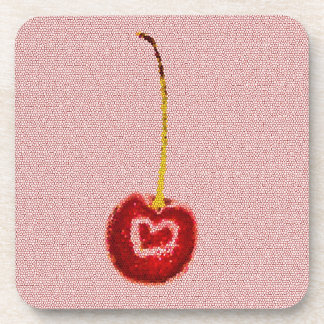 Red Cherry Set of 6 Coasters