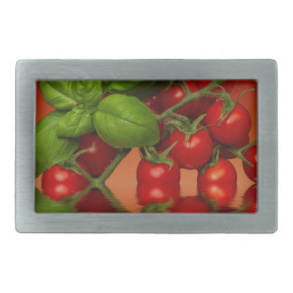 Red Cherry Tomatoes Basil Belt Buckle