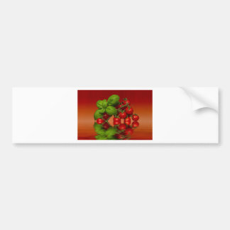 Red Cherry Tomatoes Basil Bumper Sticker