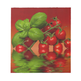 Red Cherry Tomatoes Basil Notepad