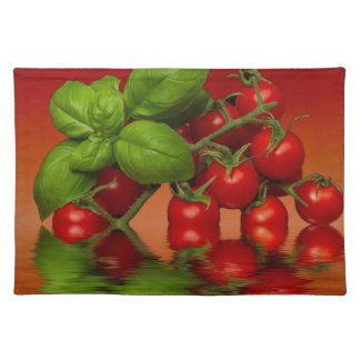 Red Cherry Tomatoes Basil Placemat