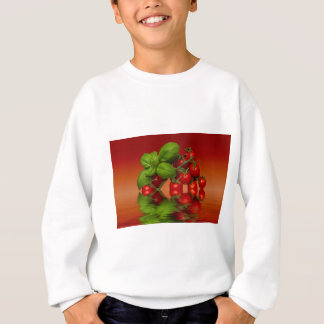 Red Cherry Tomatoes Basil Sweatshirt