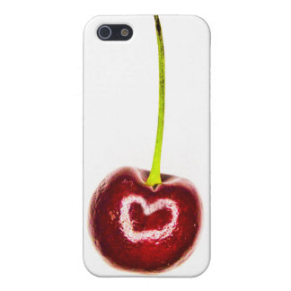 Red Cherry with white heart iPhone 4 Case