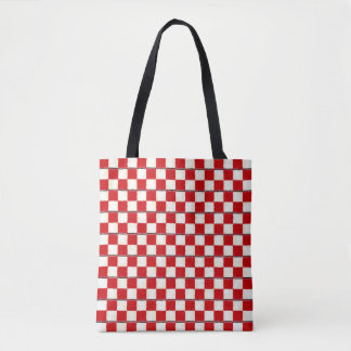 Red Chess Tote Bag
