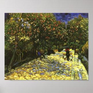 Red Chestnuts in Arles Park, Vincent van Gogh Poster