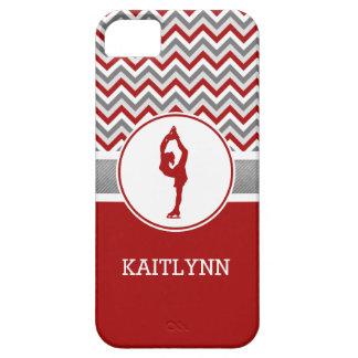 Red Chevron Figure Skater iPhone 5/5s Case