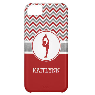 Red Chevron Figure Skater iPhone 5cCase Case For iPhone 5C