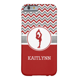 Red Chevron Figure Skater iPhone 6 Case Barely There iPhone 6 Case
