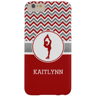 Red Chevron Figure Skater iPhone 6 Case Barely There iPhone 6 Plus Case