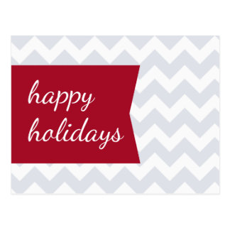 Red Chevron Holiday Postcards