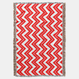 Red Chevron Print Throw Blanket