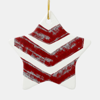 Red Chevrons Christmas Ornament