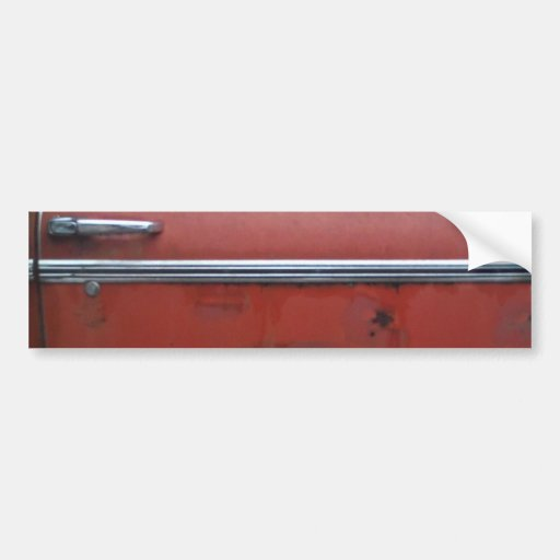 Red Chevy silver trim Bumper Stickers