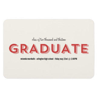 Red Chic Graduation Magnet
