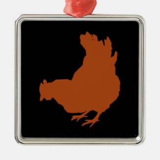 Red Chicken Hen Christmas Ornament