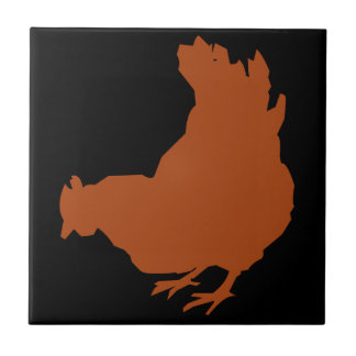 Red Chicken Hen Tile