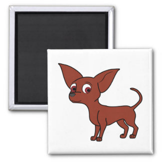 Red Chihuahua Square Magnet