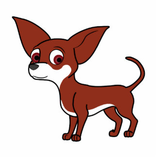 Red Chihuahua with White Markings Photo Sculpture Decoration