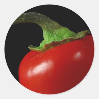 Red chili classic round sticker