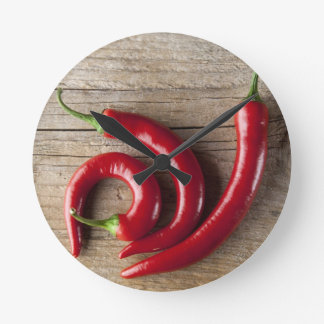 Red Chili Pepper Clocks