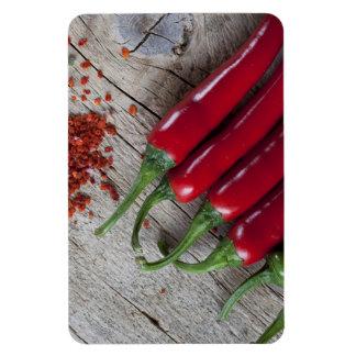 Red Chili Pepper Rectangular Magnet