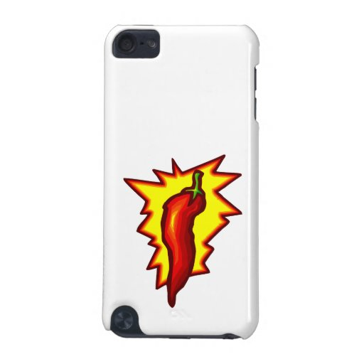 Red Chili Pepper Yellow Burst Graphic iPod Touch 5G Case