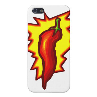 Red Chili Pepper Yellow Burst Graphic Cover For iPhone 5/5S