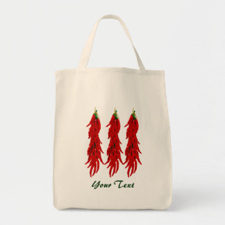 Red Chili Peppers Grocery Tote Bag