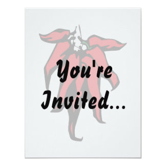 """Red Chili Peppers On a String Graphic 4.25"""" X 5.5"""" Invitation Card"""