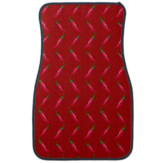 Red chili peppers pattern car mat