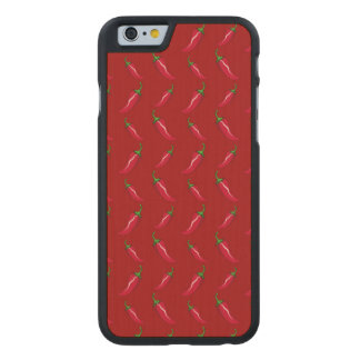 Red chili peppers pattern carved® maple iPhone 6 case