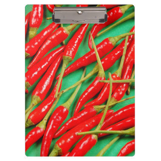 Red chili peppers print clipboard